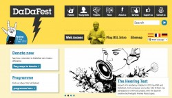 screenshot of the DaDaFest website