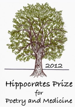 poetry award logo with a central image of the drawing of a beech tree