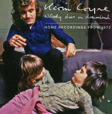 album cover for kevin cyne's nobody dies in dreamland showing the musician at home with two young boys