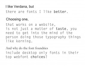 This is a page with various fonts, showing different weights, spacing and kerning.