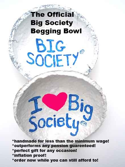 Big Society begging bowl