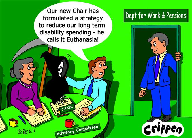 Crippen's cartoon about using euthanasia as a political solution