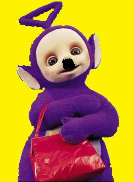 Image - tinkywinky_and_his_hitler_moustache.jpg